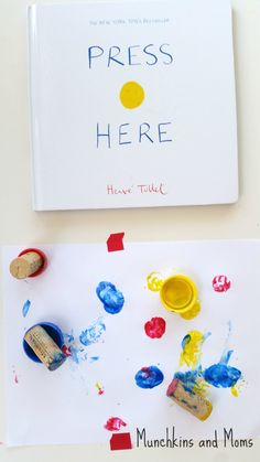 "Munchkins and Moms: ""Press Here"" Art Activity"