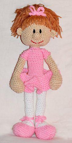 crochet pattern amigurumi doll ballerina by MOTLEYCROCHETCREW