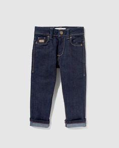 Pantalón vaquero de niño Brotes azul rinse