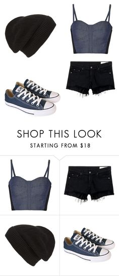 """""""Untitled #441"""" by fairytalestorybook ❤ liked on Polyvore featuring Rebecca Minkoff, rag & bone/JEAN, Phase 3 and Converse"""