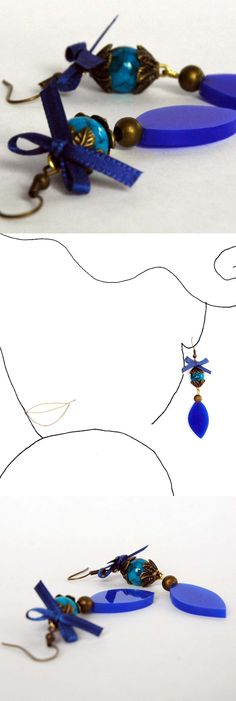 handmade earrings.  Unique design  See all the collection at www.caixademistos.com  Online shop at Dawanda coming soon!