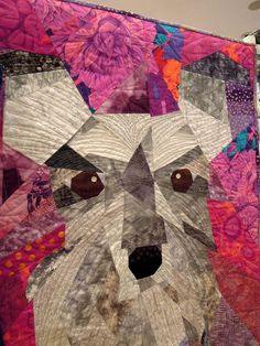 """Close-up of """"Bridget"""" by Linda Bergmann, River City Quilters' Guild.  Photo by Quilt Inspiration"""