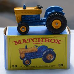 1960's Lesney Matchbox No 39 Ford Tractor with Original Box https://www.etsy.com/shop/WillsAttic