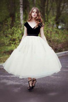 Vestido tulle preto e branco #princesa
