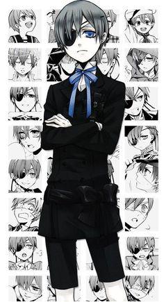 anime, black butler, and kuroshitsuji image Anime Kuroshitsuji, Black Butler Kuroshitsuji, Undertaker, Black Butler Ciel, Ciel E, Manga Anime, Ciel Anime, Deidara Wallpaper, Anime Amino
