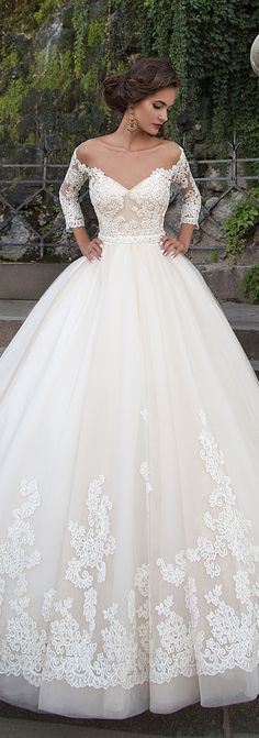Love the lace detail on the bottom of this gown