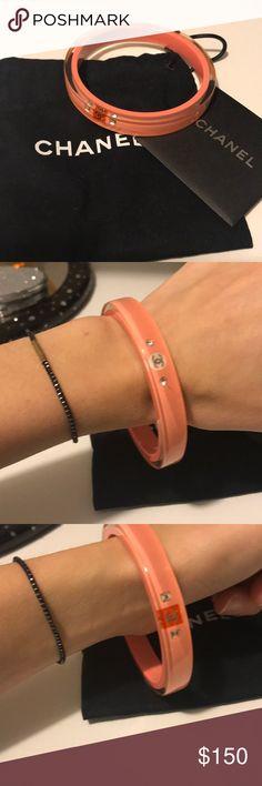 Chanel bracelet Authentic Chanel bangle bracelet in pink CHANEL Jewelry Bracelets