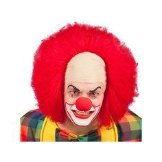 Cette perruque de clown possède un faux crâne et un faux front. Des cheveux rouges, un hirsute sont sur tous les côtés! Que ce soit pour un clown méchant ou un clown gentil cette perruque sera parfaite dans la thématique du cirque!