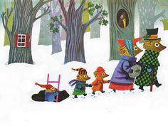Hedgehog Family Christmas