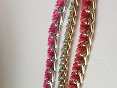 Catena singola dorata con nabuk #handmade #bracciale #taranto #italia #madeinitaly #handcraft #catena #chains #archijewels #jewels