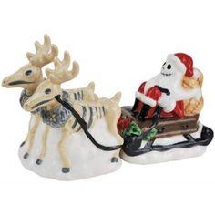 Nightmare before Christmas Jack Skellington and Reindeer Set of 2 Ceramic Salt and Pepper Shakers