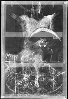 X-ray image of Francis Bacon's Painting