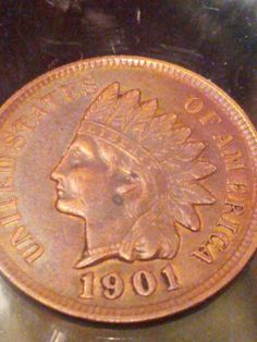 1901 Indian head penny beautiful luster 34 by DrewsCollectibles, $17.99