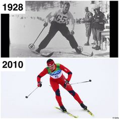 Cross Country Skiing #thenandnow