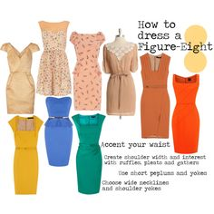 How To Dress A Figure-Eight. I don't like belting everything. Makes a dress look office-ish