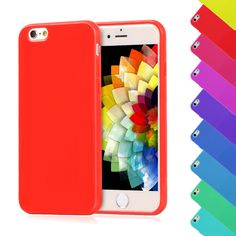 For iPhone 6 6S Case Candy Color Silicone TPU Gel Soft Case For Apple iPhone 6S Cover Rubber Back Cover Shockproof Phone Cases-in Phone Bags & Cases from Phones & Telecommunications on Aliexpress.com | Alibaba Group