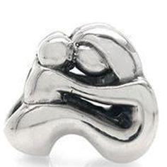 "Mother`s Day Gift ""Mother Daughter"" / Mom Baby Child Family Forever Love Bead for Pandora Troll European Charm Bracelets"