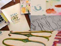 """...just one thing..."" #watercolor #type #aquarela #quotes #umbertoeco #makingof"