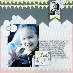 Love U Banner Shine #Scrapbook Layout Project Idea from Creative Memories  http://www.creativememories.com