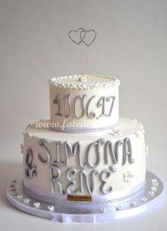 Wedding Cake Cuori Swarovski | | Fate di Zucchero - Cake Designers
