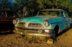 Nieuw in mijn Werk aan de Muur shop: Blue Chrysler