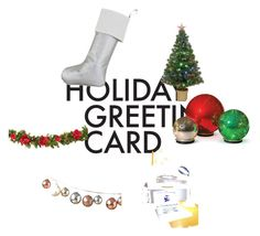 """""""Holiday Greetings"""" by castiliano on Polyvore featuring art, holidaygreetingcard and PVStyleInsiders"""
