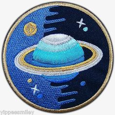 Saturn Discovery Galaxy Ranger Space NASA Day Night Moon Star Iron On Patch #365
