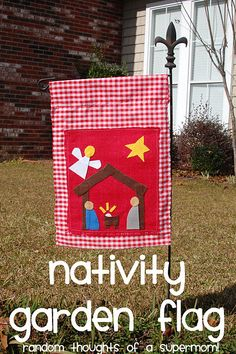 Cute Christmas Flag tutorial made from scraps @ Random Thoughts of a Supermom