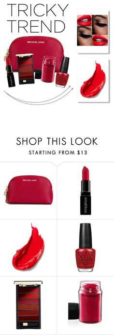 """""""∞ Tricky trend?"""" by andrea-moen ❤ liked on Polyvore featuring beauty, MICHAEL Michael Kors, Smashbox, Estée Lauder, OPI, L'Oréal Paris and MAC Cosmetics"""