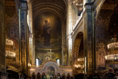 orthodox photo | Some Orthodox Christians visit a church to pray or reflect on inner ...