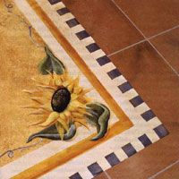 How to Floor Cloth -French country - Rugs-DIY - Painted Floor Cloths, Painted Rug, Stenciled Floor, Hand Painted Furniture, Painted Floors, Floor Art, Floor Decor, Floor Rugs, Mural Painting