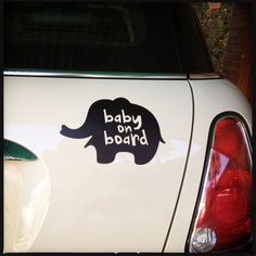 Baby-on-Board Bumper Sticker black