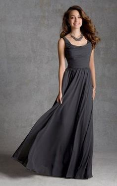 Beautiful Long Grey Tailor Made Evening Prom is elegant   fashion for your  occasions. MarieProm is a trustful store offers cheap dresses online. 7c2db037ed68