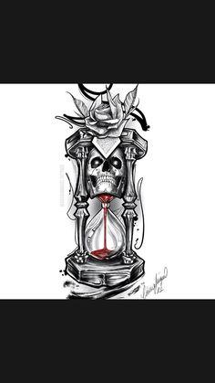Shiva Tattoo Design, Clock Tattoo Design, Skull Tattoo Design, Tattoo Design Drawings, Tattoo Sleeve Designs, Tattoo Sketches, Tattoo Designs Men, Geometric Tattoo Skull, Art Sketches