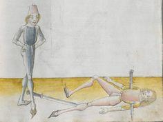 Lecküchner, Hans: Kunst des Messerfechtens Nordbayern, 1482 Cgm 582 Folio 111