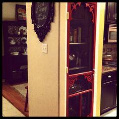 photo Kitchen Hacks, Kitchen Decor, Kitchen Ideas, Screen Door Pantry, Local Hardware Store, Toy Rooms, White Doors, Door Pulls, Unfinished Wood