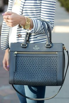 Kate Spade New York ~ Mercer Isle Small Sloan Perforated Leather Handbag
