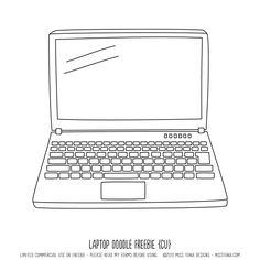 Laptop Doodle Free image #Printables