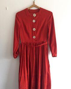 New product poppy red cotton dress #fab.#vintagefashion #1940s #1950s #ヴィンテージ#ビンテージ #ヴィンテージファッション #古着 #ヴィンテージワンピース #ヴィンテージドレス