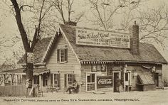 Postcard view of Prospect Cottage in the 1910s, after it had been converted to commercial use