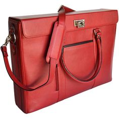 """Alicia Klein """"Hollywood"""" Canyon Leather Laptop Tote  Whether you use it for business or pleasure you will be in style."""