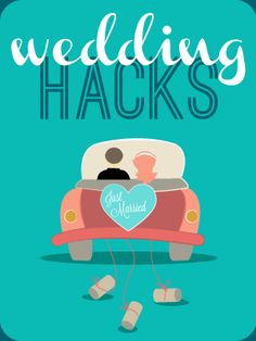 With a little creativity and 'hacking' it is possible to cut out a lot of time and money in the planning stages of a wedding. If you are planning a wedding or know someone that is in the process, share this graphic with them. Chances are it will save them a lot of stress.