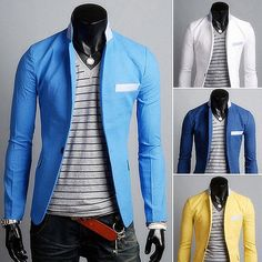 New Arrival Single Button Leisure Blazers Men Male Fashion Slim Fit Ca – TopProductKing
