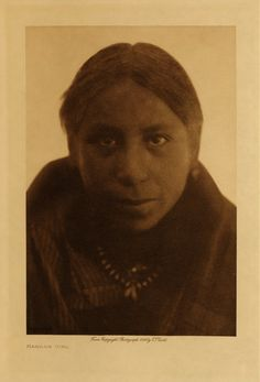 An unidentified girl of the Mandan Tribe. No date or additional information.