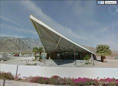 "Tramway Gas Station, Palm Springs, California, USA  (1965. Albert Frey & Robson Chambers) /  33°51'29.93""N 116°33'29.31""W (Google Earth Street View)"