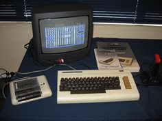 Commodore Vic 20 with tape drive.