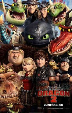 How to Train Your Dragon 2 Cast Portrait Movie Poster 11x17
