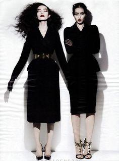 Fei Fei Sun and Liu Wen by Michael Thompson for W Magazine November 2012