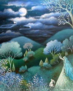 Sky Of Angels Painting by Amanda Clark