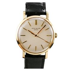 PATEK PHILIPPE Genève Calatrava Ref 3423 1960s | From a unique collection of vintage wrist watches at http://www.1stdibs.com/jewelry/watches/wrist-watches/